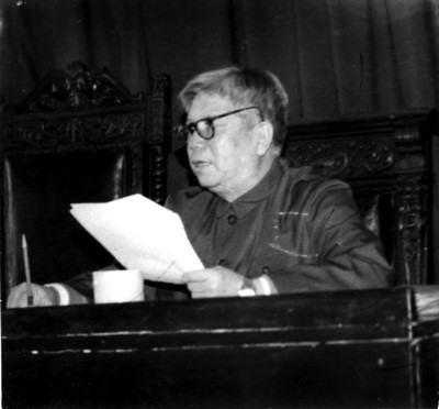 中东铁路历史专家郑长椿先生(郑琦父亲)生前讲话照片