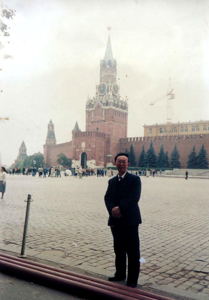 1992年9月,我在莫斯科红场留影