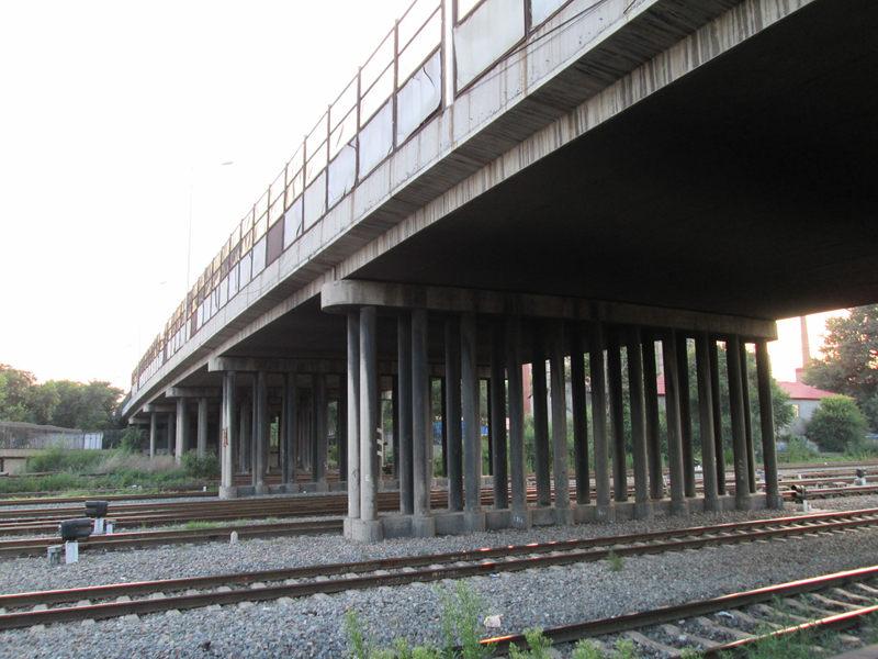 昔日三棵树铁路跨线桥(哈尔滨工务段关明月拍摄)