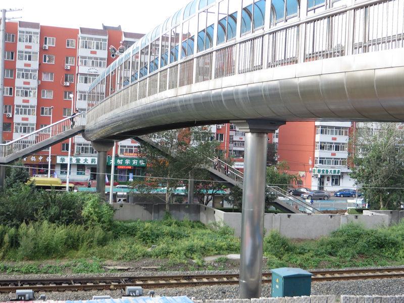 现香坊文景街铁路人行天桥(笔者拍摄)