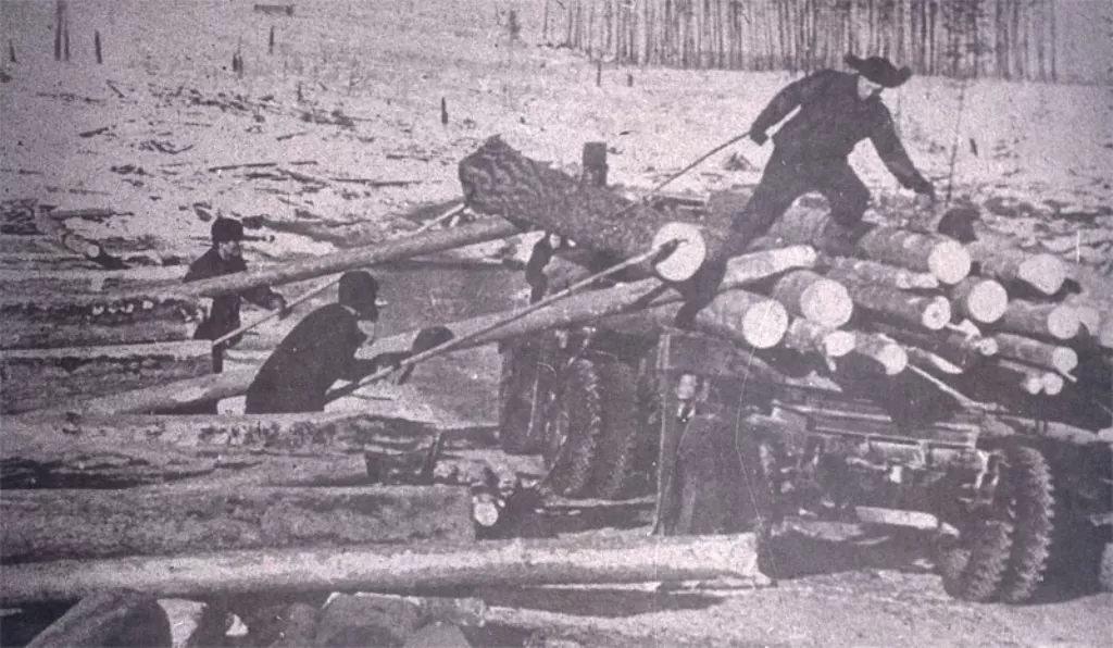弗拉基米尔·阿布拉姆斯基拍摄的劳改营劳动的场景
