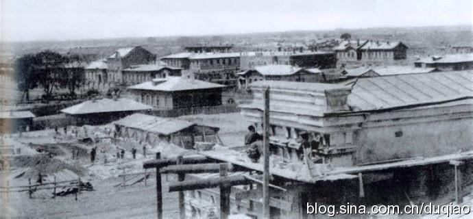 上个世纪初,哈尔滨东清铁路中央医院全景