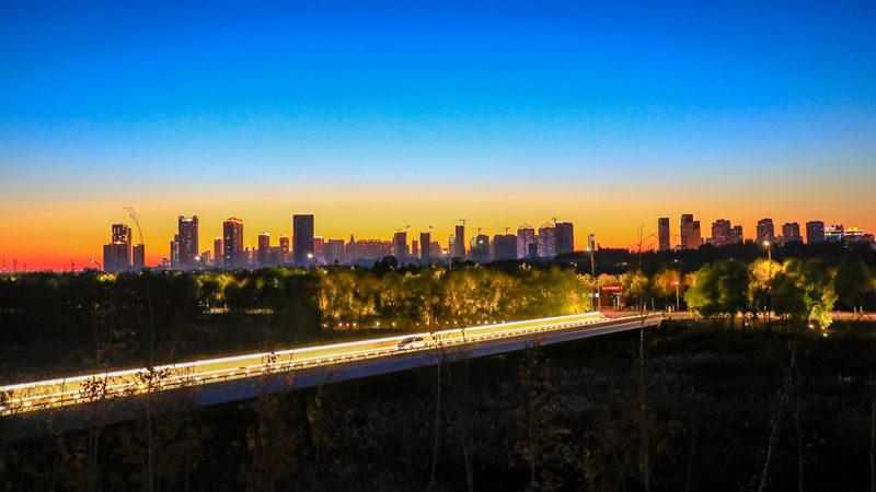 建设中的哈尔滨新区夜景,张维涛摄影